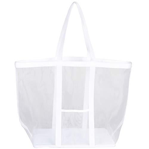 アストロ ランドリーバッグ ホワイト 約幅39×奥行24×高さ40cm メッシュ素材 洗濯カゴ 洗濯物入れ 820-29 大