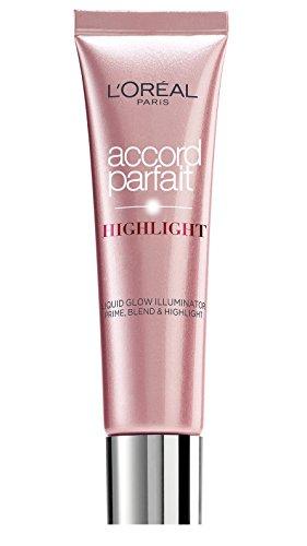 L'Oréal Paris Accord Parfait, Iluminador Líquido, 201 Rosy Glow