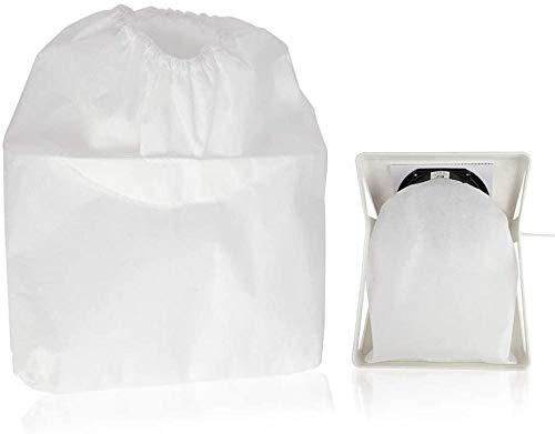 Bolsas de aspiradora Bolsas de colector de Polvo de uñas Bolsa de aspiradora para 65W Colector de Velocidad Ajustable Fuerte para Aspirador de Ventilador para el reemplazo de manicura Evolutions