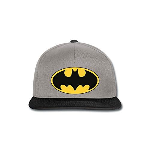 DC Comics Batman Logo Schwarze Fledermaus Klassisch Snapback Cap, Graphit/Schwarz