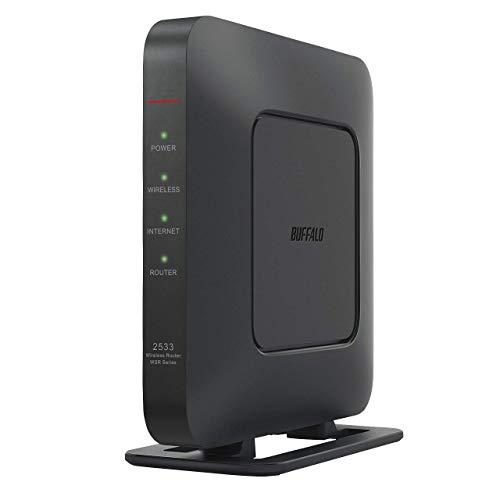 BUFFALO WiFi 無線LAN ルーター WSR-2533DHPL2/NB 11ac ac2600 1733+800Mbps IPv6対応 デュアルバンド 4LDK 3階建向け 簡易パッケージ テレワーク【iPhone12/11/iPhone SE(第二世代) メーカー動作確認済み】