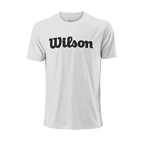 Wilson Uwii Script Tech Camiseta, Blanco (White/Black), LG Hombres