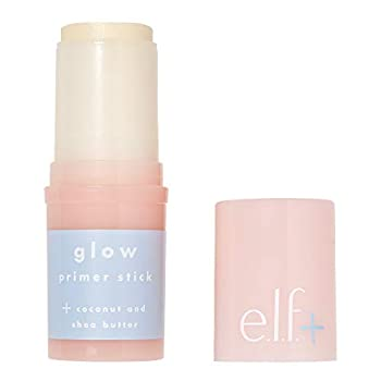e.l.f Elf+ Glow Primer Stick Lightweight Hydrating Luminizing Primes Preps Smooths Nourishes Infused with Coconut and Shea Butter Shimmer 0.53 Oz