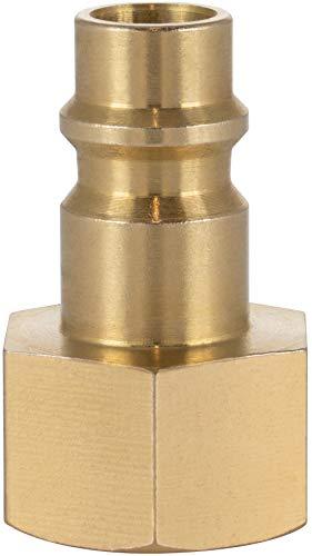Poppstar Boquilla conector compresor aire macho, diámetro nominal 7,2 mm con rosca interior de 3/8 pulgada para conexión de aire comprimido
