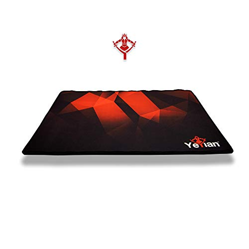 YEYIAN Gaming Mouse PAD 20' x 14' with 0.1' Thickness, Black with Costumazed Artwork, Original Rubber with Cloth, Anti Skid Base, Water Resistant (YSS-MP1050N)