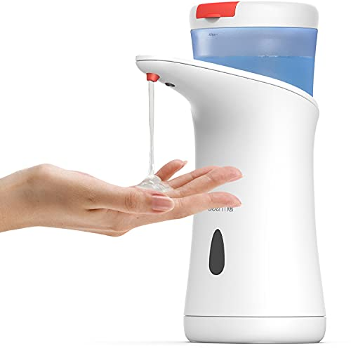 Deerma Dispenser sapone automatico con sensore di movimento a infrarossi, Dispenser sapone bagno per...