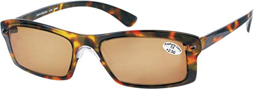 LO69 Opticollection Gafas de Lectura para vista cansada con Funda Tela a juego Hombre   Mujer   Lentes Graduadas para Presbicia: +1/ +1.5/ +2/ +2.5/ +3/ +3.5 (+1.50, Habana-Marrón)