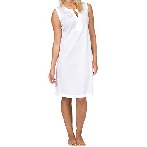 Hutschreuther Damen Nachthemd feinste leichte Baumwolle in cremeweiß, Farbe:cremeweiß;Grösse:S / 36