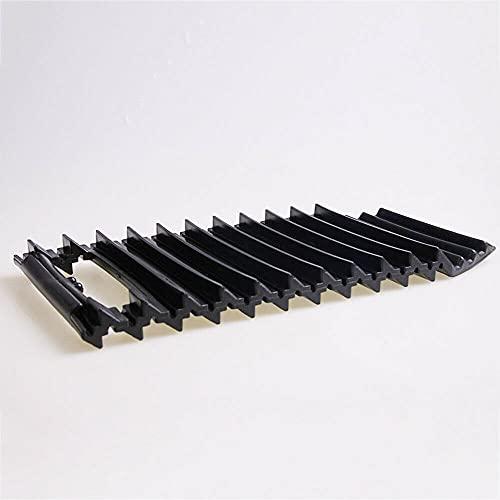 TOTMOX - Alfombrilla antideslizante para neumáticos de coche, 2 unidades, universal para tracción de neumáticos de coche, alfombrilla antideslizante para charcos de barro y arena negra