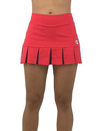 a40grados Sport & Style, Falda Feliz Roja, Mujer, Tenis y Padel (Paddle) (40 M)