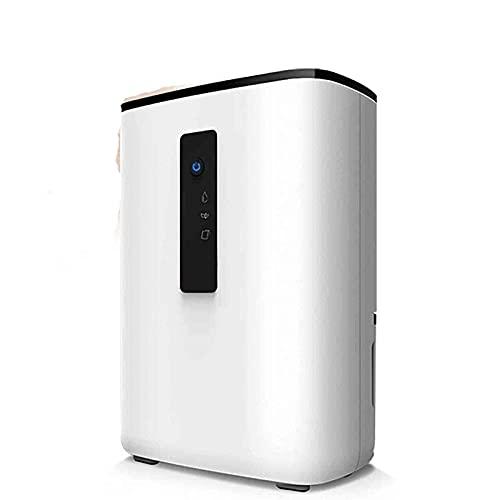 Deumidificatore compatto 2L con display di umidità digitale, auto-off, deumidifier silenzioso portatile, depuratore d'aria ad alta efficienza energetica, per umidità e condensa (Color : White)
