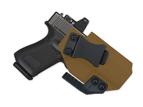 MIE Productions: IWB FOMI Holster with Concealment Claw - Supports Optic/RDS - fits Canik TP9SF Elite - TP9SF Elite Combat (FDE - Left Hand, Canik TP9SF Elite)