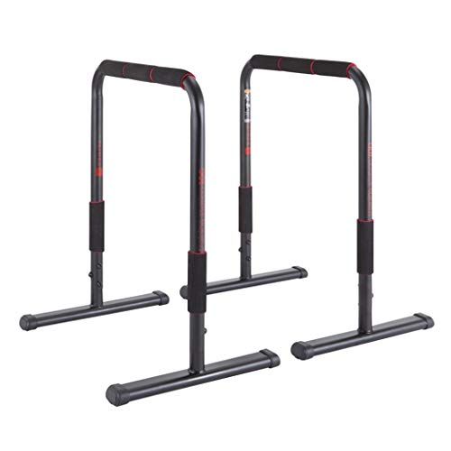 Home Parallel Bars Horizontal Bar Fitness Workout Dip Bar Dip Station Push Up Bars Fitness Equalizer Fitness Training Equipment (Color : Black, Size : 65x47x78cm)