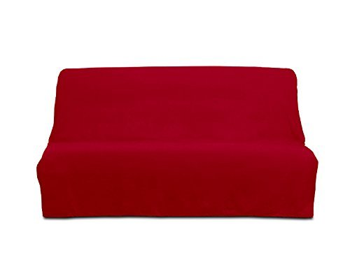 PANAMA cotton clic-clac sofa bed cover - red by Soleil d'Ocre