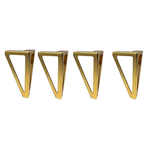 Pies Patas De Mesa De Horquilla 4 Piezas De Patas De Muebles Patas Triangulares Negras for Muebles, Negro De Repuesto for Bricolaje for Patas De Sofá (Color : Gold, Size : 15.5cm)
