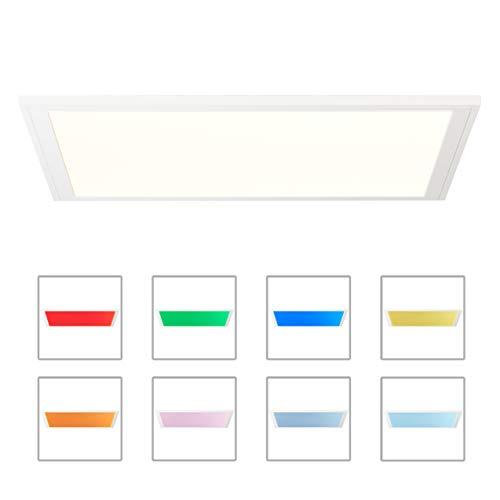 Brilliant Abie LED Deckenaufbau-Paneel 40x40cm quadratisch RGB Panel Fernbedienung dimmbar RGB Hauptlicht CCT Einstellung der Lichttemperatur flächiges Licht weiß 2400 Lumen, LED integriert