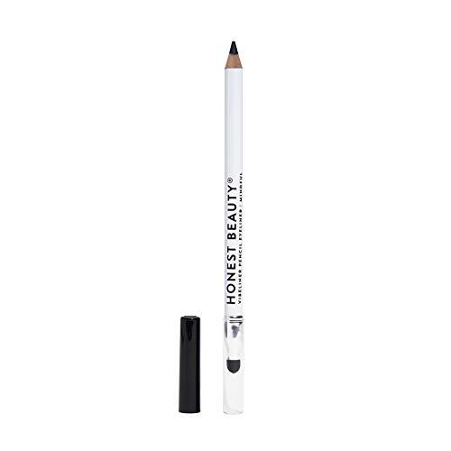 Honest Beauty Vibeliner Pencil Eyeliner Mindful (Matte Black) | With Jojoba Oil, Meadowfoam Oil, & Macadamia Nut Oil | With built-in smudger, 0.038 Ounce