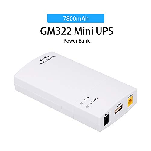 Docooler GM322 Mini ups Caricatore Portatile Power Protection Caricabatterie 7800MAH DC Power Bank Alimentazione Portatile per 12V 2A Protezione Applicazioni Bianco