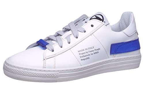 Momino Sneaker 4040 Teen Sport Halbschuhe Leder Weiß, Schuhgröße:EUR 41