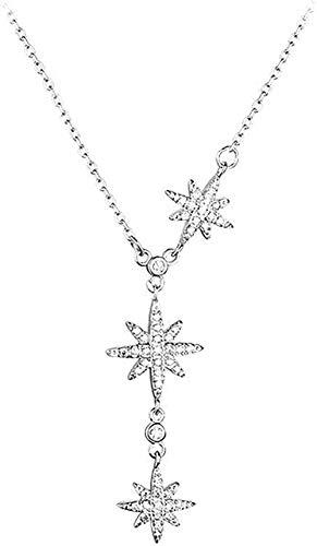 ZGYFJCH Co.,ltd Collar Estrella Colgante Collar Clavícula Cadena Regalo