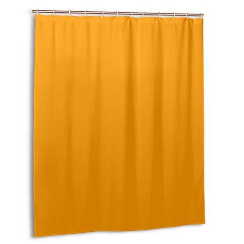 Duschvorhang für Badezimmer, wasserdicht, Orange Pfirsich, robuste Duschvorhänge mit 12 Haken, für Badezimmer, dekorativ, 152 x 183 cm