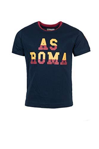 AS Roma T-Shirt Girocollo Bambino, Maglia di Tuta, Blue, Taglia Unica 4-5 Anni