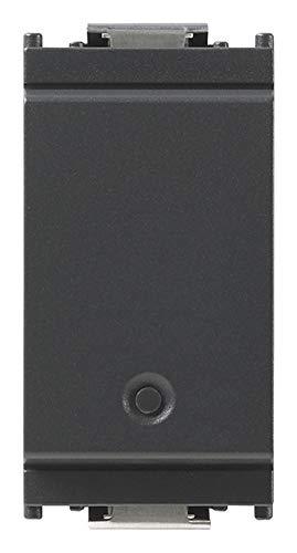 Vimar 16492 Idea Deviatore connesso VIEW Wireless con uscita a relè, per lampade, trasformatori e controllo remoto con doppia tecnologia Bluetooth 5.0 e Zigbee 3.0
