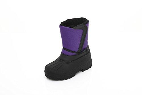 Unisex Kids Winter Snow Boots - Insulated Toddler/Little Kid/Big Kid Purple