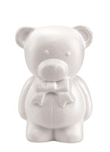 GLOREX Styropor Bär, Weiß, 20 x 7 x 10,5 cm