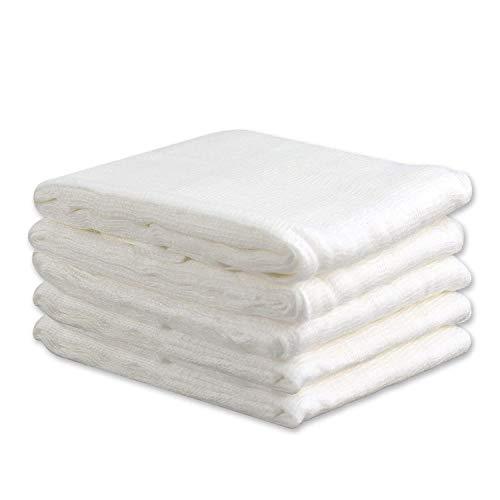 Filtro riutilizzabile o filtro riutilizzabile del cotone 5pcs cotone per le decorazioni Natale,la cottura,fabbricazione del formaggio,i latte della noce di tensione della Turchia,i 20 yarde/3 yard