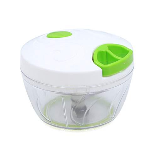 Sunnyflowk Procesador de Alimentos multifunción Máquina de Corte Manual Duradera Picadora de ajo para el hogar Picadora de Carne de Mano (Transparente)