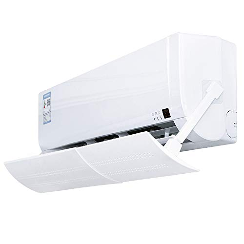 Deflector de aire acondicionado retráctil, deflectores de aire acondicionado de CA divididos, ala de parabrisas ajustable anti-soplado directo, para aire acondicionado doméstico de 22 a 42,5 pulgadas