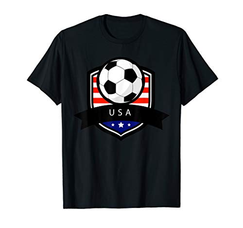 USA Soccer Ball T-Shirt | American Flag Football Tee