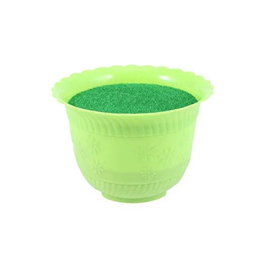 Artibetter Pot de Mousse Floral avec Simulation de Gazon pour Centre de Table allée de Mariage décoration de fête de Fleurs (Vert)