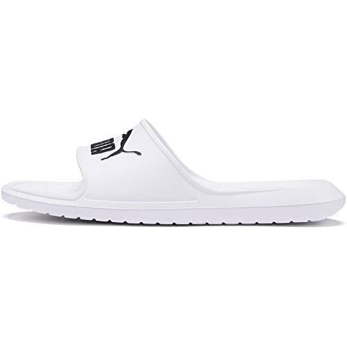PUMA Divecat V2, Zapatos de Playa y Piscina Unisex Adulto, Blanco White Black, 44.5 EU