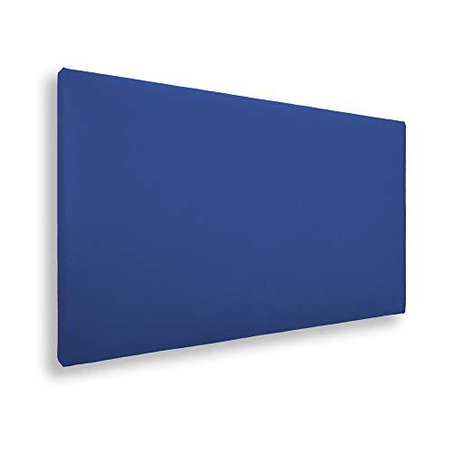 Silcar Home - Cabecero de Cama Tapizado en Polipiel Liso, Modelo Jep (Azul, 90 cm)   Cabecero Acolchado   Cabezal Tapizado   TNT Transpirable   Cabecero Original   Transporte Incluido