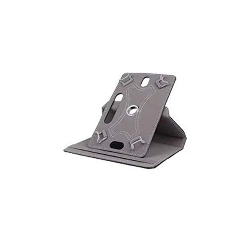 Pennytupu Funda de piel para tablet de 7 pulgadas, 8 9 pulgadas, 10 pulgadas, universal, con tres agujeros, con gancho de esquina universal, rotación de 360 grados.