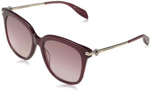 Alexander McQueen AM0107S 003 55 Gafas de sol, Rojo (003-Burgundy/Pink), Mujer