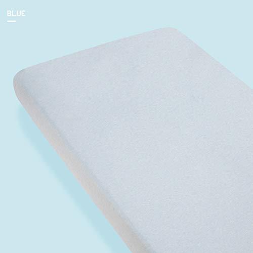 YUDEYU Kinderbettwäsche Tailliert Atmungsaktiv Tagesdecke Schutzhülle Baumwolle 3-10cm Unterstützung Der Anpassung (Color : Blue, Size : 140cmx70cm)