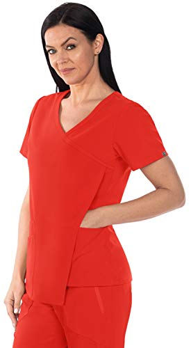 Grey's Anatomy Signature GNT004 Women's Nina Scrub Top Red Orchid 5XL