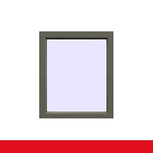 Festverglasung einflügeliges Fenster | Außen Basaltgrau Glatt Innen Weiß