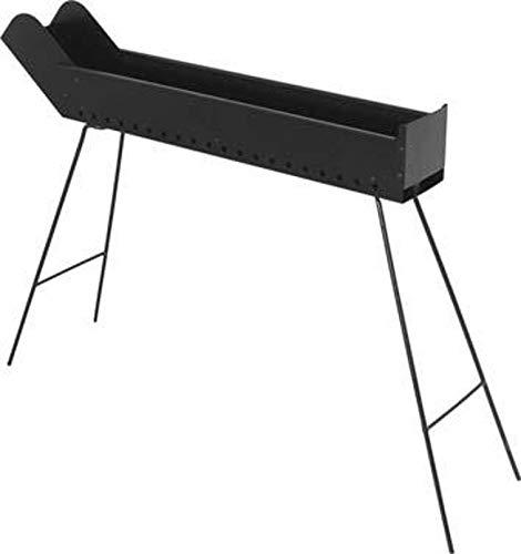 F-U Barbecue a carbonella per arrosticini richiudibile cuocispiedini 80x15 H cm 65