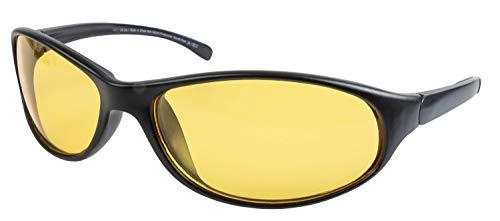Walser Nachtfahrbrille Schwarz Nachtsicht Brille für Scheinwerfer Schlechtwetter Gläser Anti Blende Blendschutz Universalgröße 30240