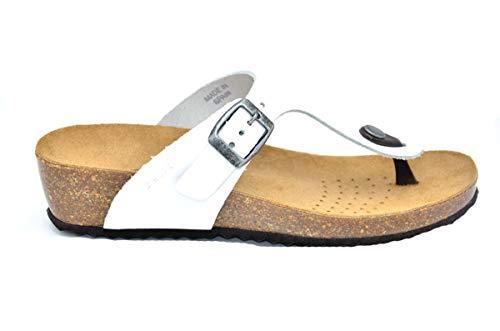 Geox - flip flops d sthellae nabuk - 36 - bianco