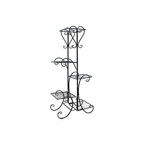 HSWYJJPFB Plant Pot Stand Indoor Flower Stand Hanging Iron Art Railing Windowsill Wall Mount Flower Pot Holder (Size : Five)