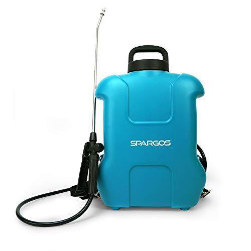 SPARGOS Pulverizador de presión Eléctrico Rociador Spray 16 Litro Botella 12V Recargable