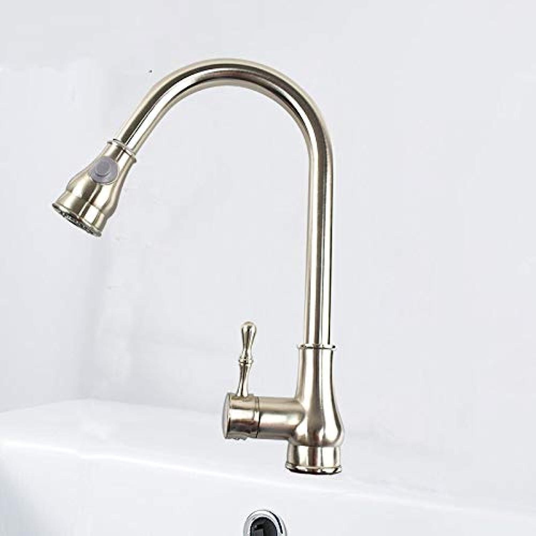 ROTOOY Wasserhhne Wasserhahn-Spülbeckenschüssel 360 Drehendes Warm- Und Kaltwasser-Mischbürste, Die Küchen-Kupferhahn Zeichnet