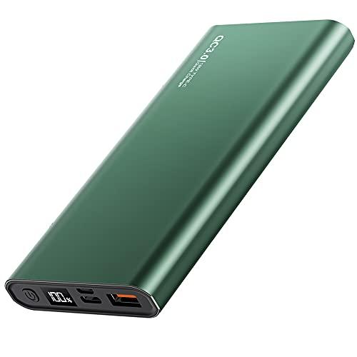 GAOword Cargador portátil 10000mAh PD3.0 Mobile Power QC 3.0, Paquete de baterías USB Ultra Compacto de 18W de Alta Velocidad, Adecuado para iPhone, Galaxia Samsung, etc.