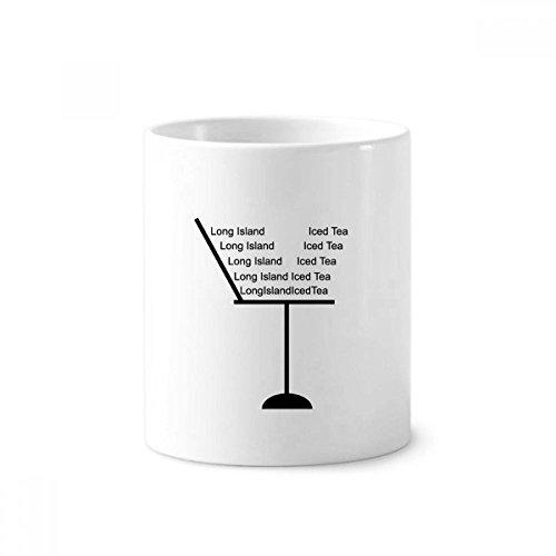 DIYthinker Silhouette Van Long Island Ice Thee Cocktail Keramische Tandenborstel Pen Houder Mok Wit Cup 350ml Gift 9,6 cm hoog x 8,2 cm diameter