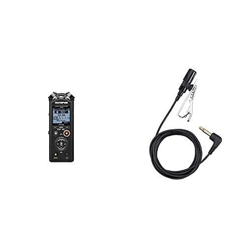 Olympus LS-P4 Hi-Res Audiorekorder mit TRESMIC 3-Mikrofonsystem, integriertem Bluetooth, direkt USB, 2-Mik-Rauschunterdrückung und ME-15 Ansteckmikrofon (geeignet für LS-, DS-, DM-, WS-, VN-Serie)